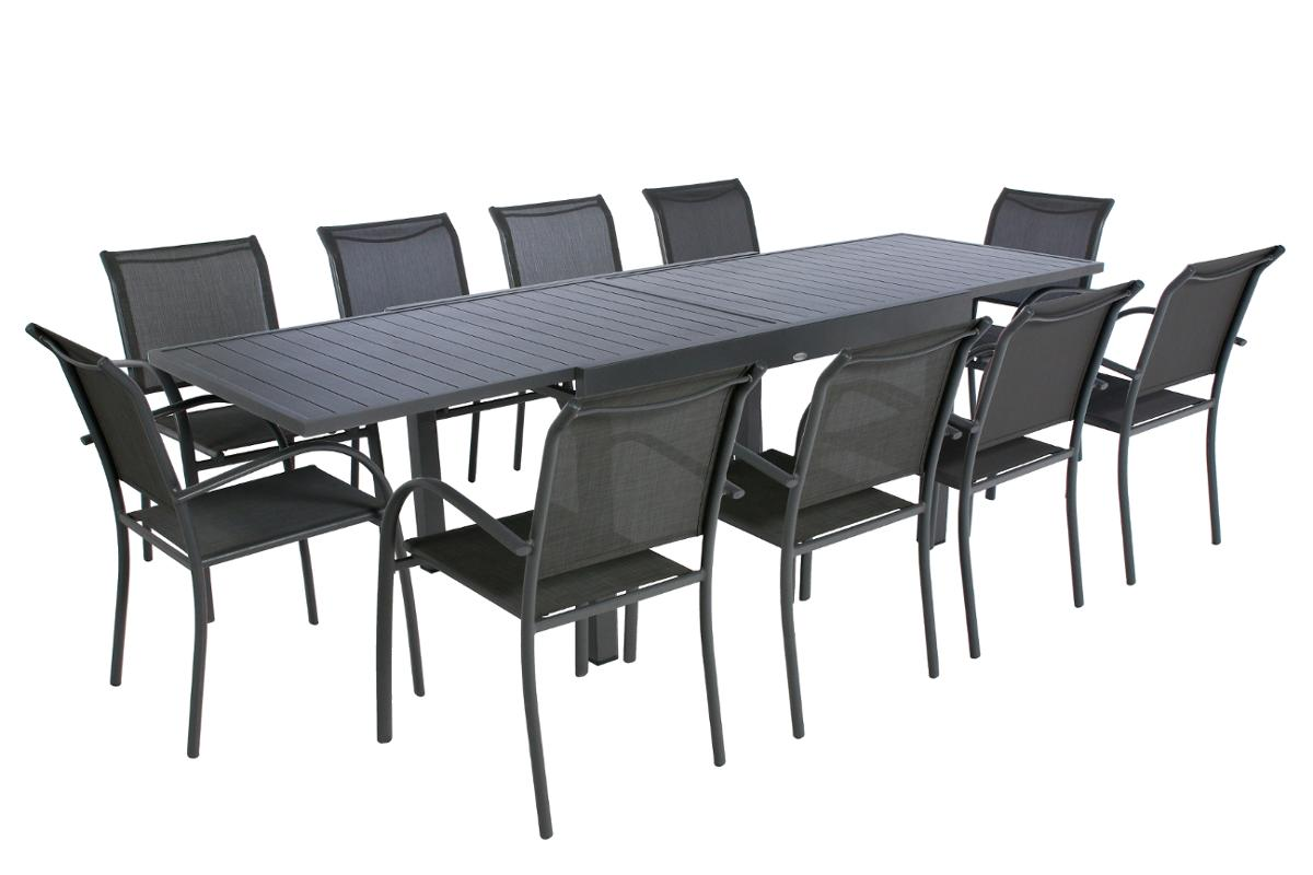 TABLE DE JARDIN EXTENSIBLE PIAZZA GRAPHITE