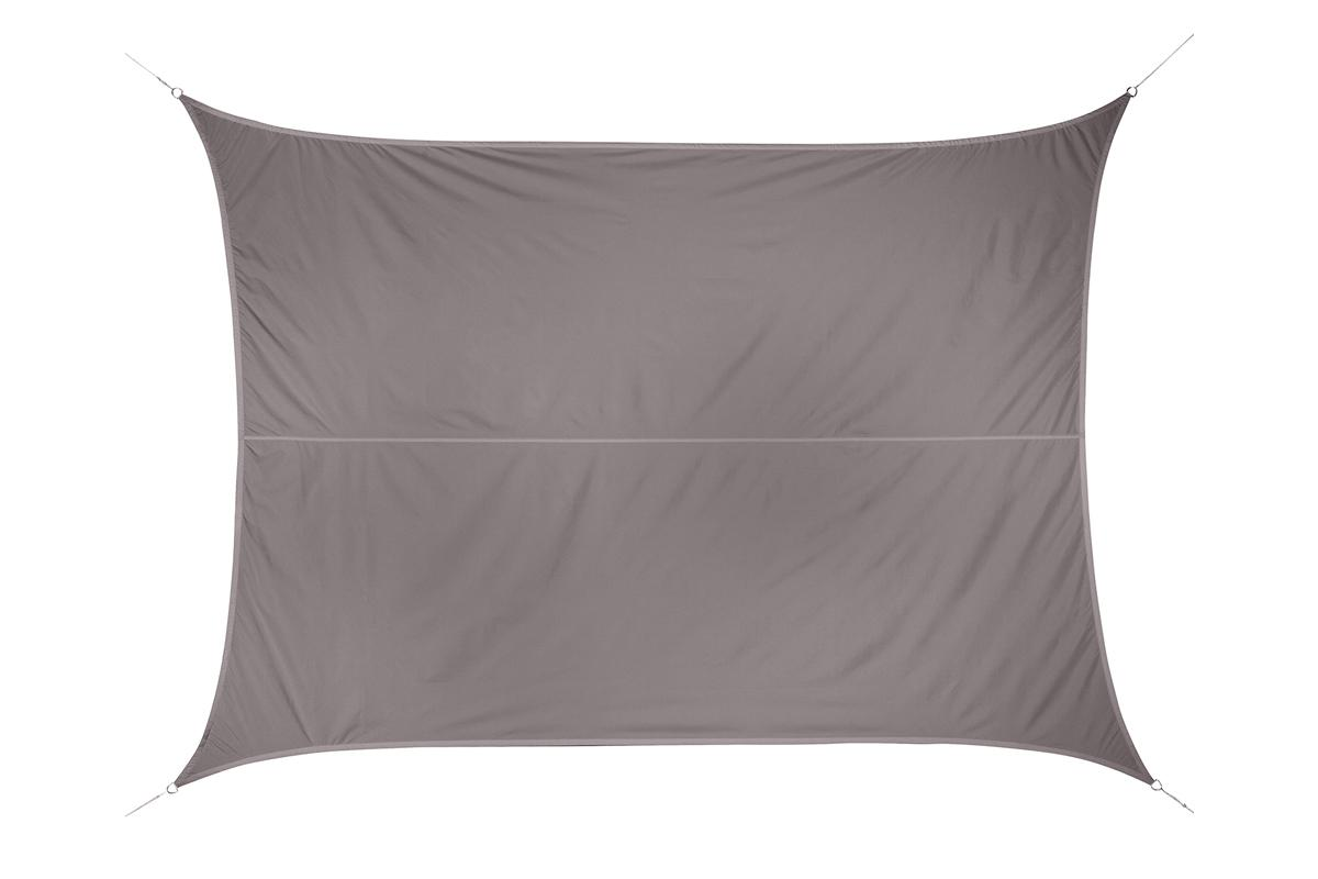 VOILE D'OMBRAGE RECTANGULAIRE CURACAO TAUPE