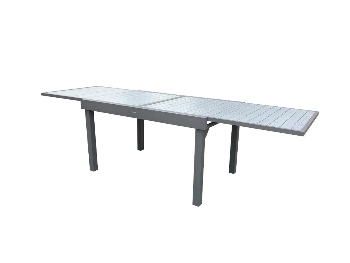 TABLE DE JARDIN EXTENSIBLE PIAZZA GRIS BASALTE & GRAPHITE